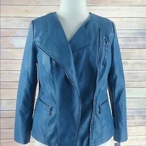 Alfani vegan leather Moto jacket